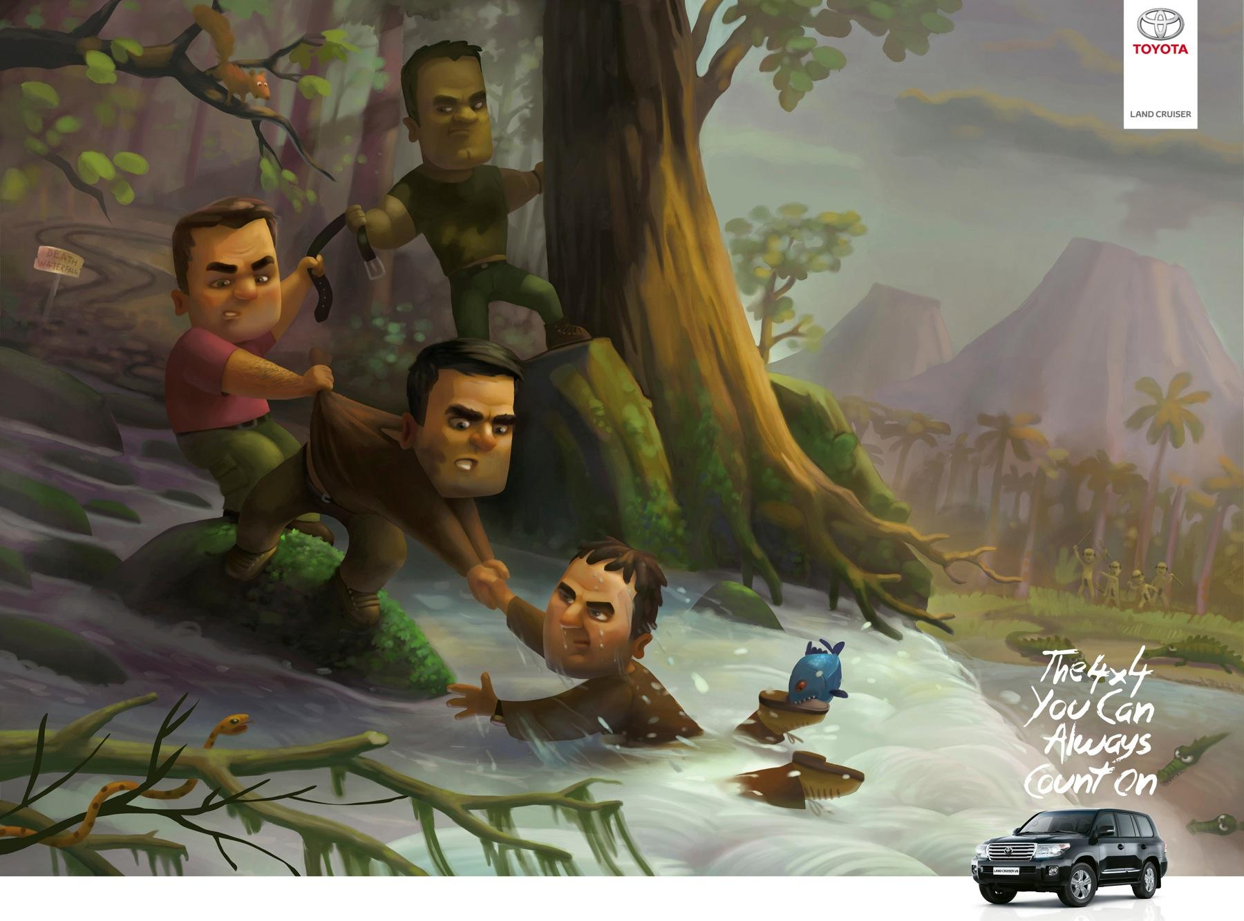 Toyota Print Ad -  Jungle