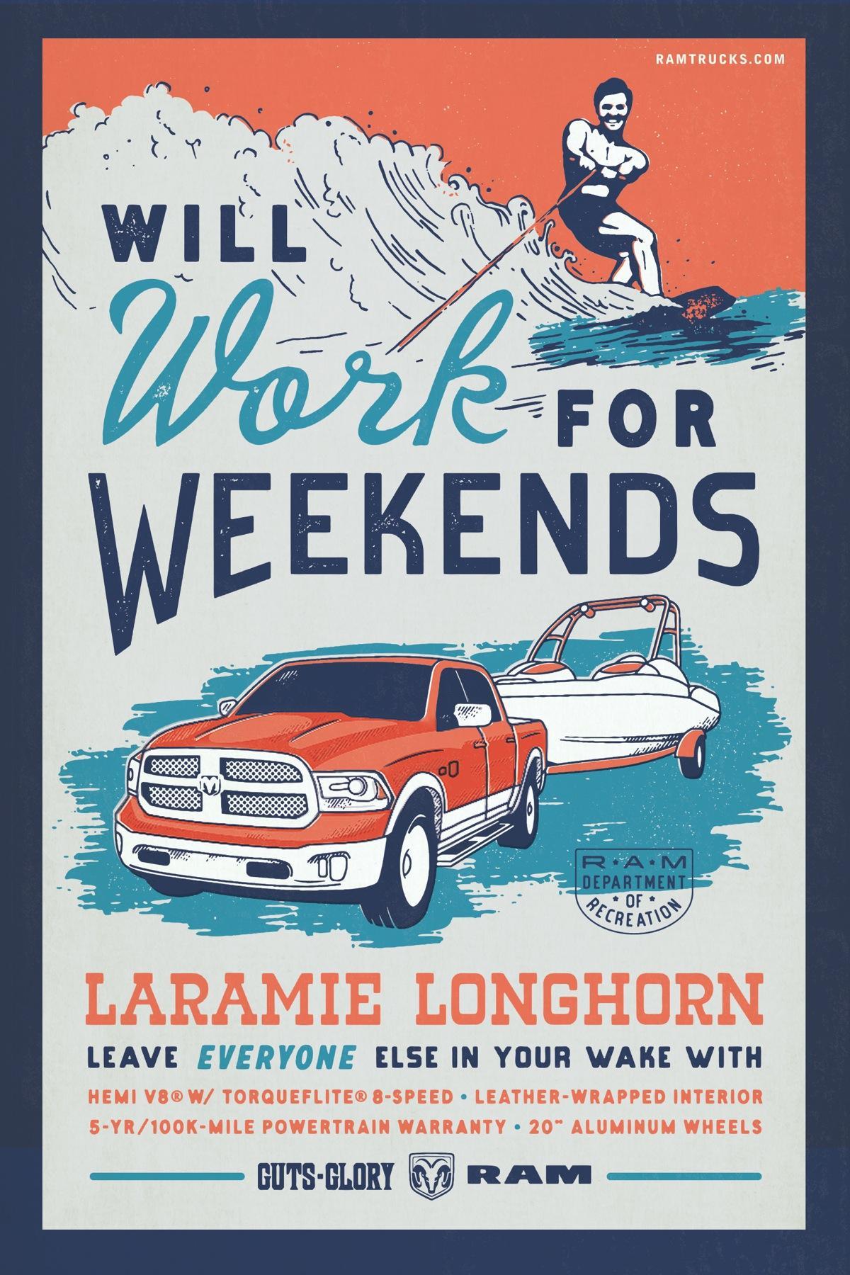 Dodge Print Ad -  Boating