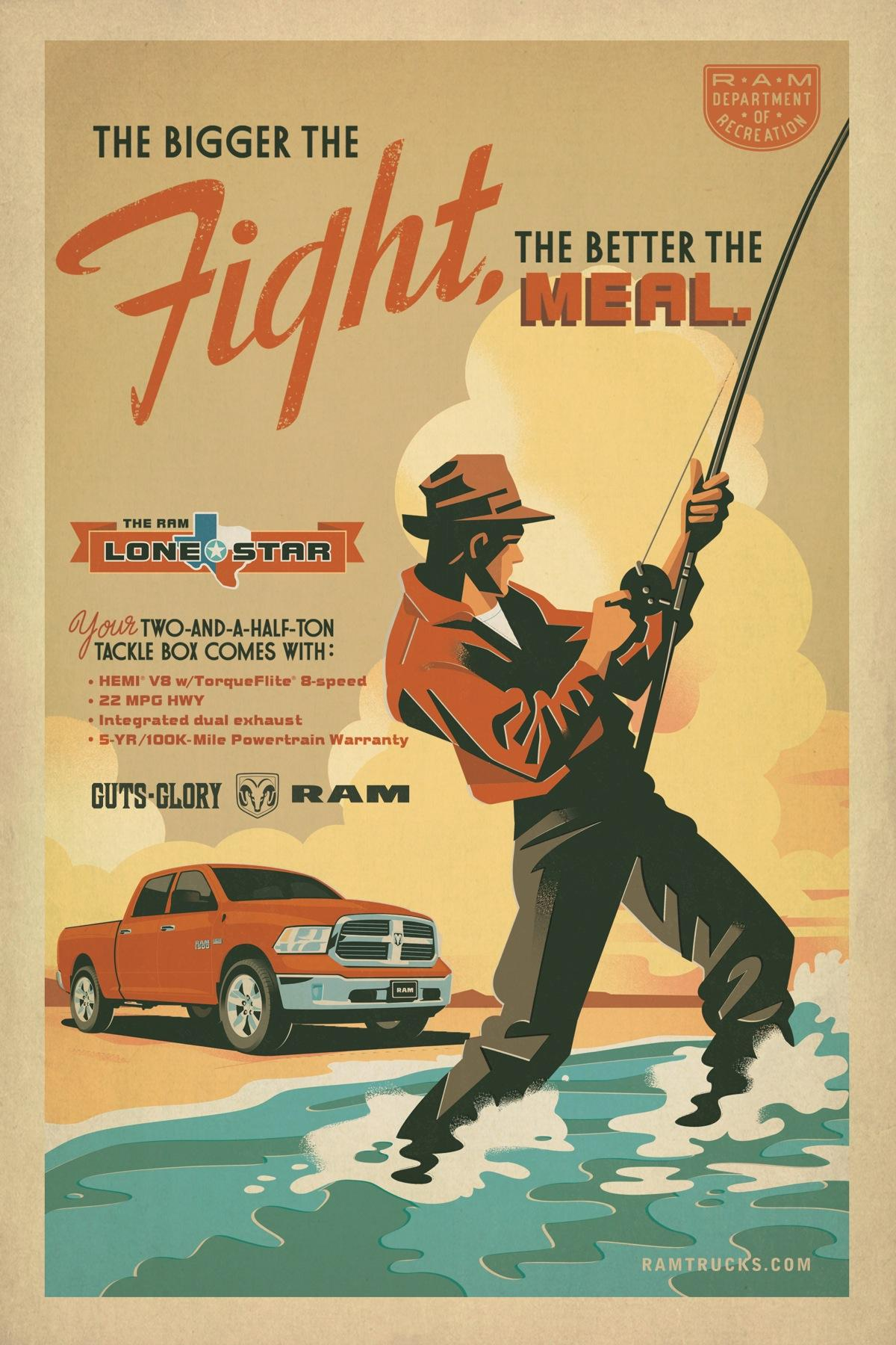 Dodge Print Ad -  Fishing