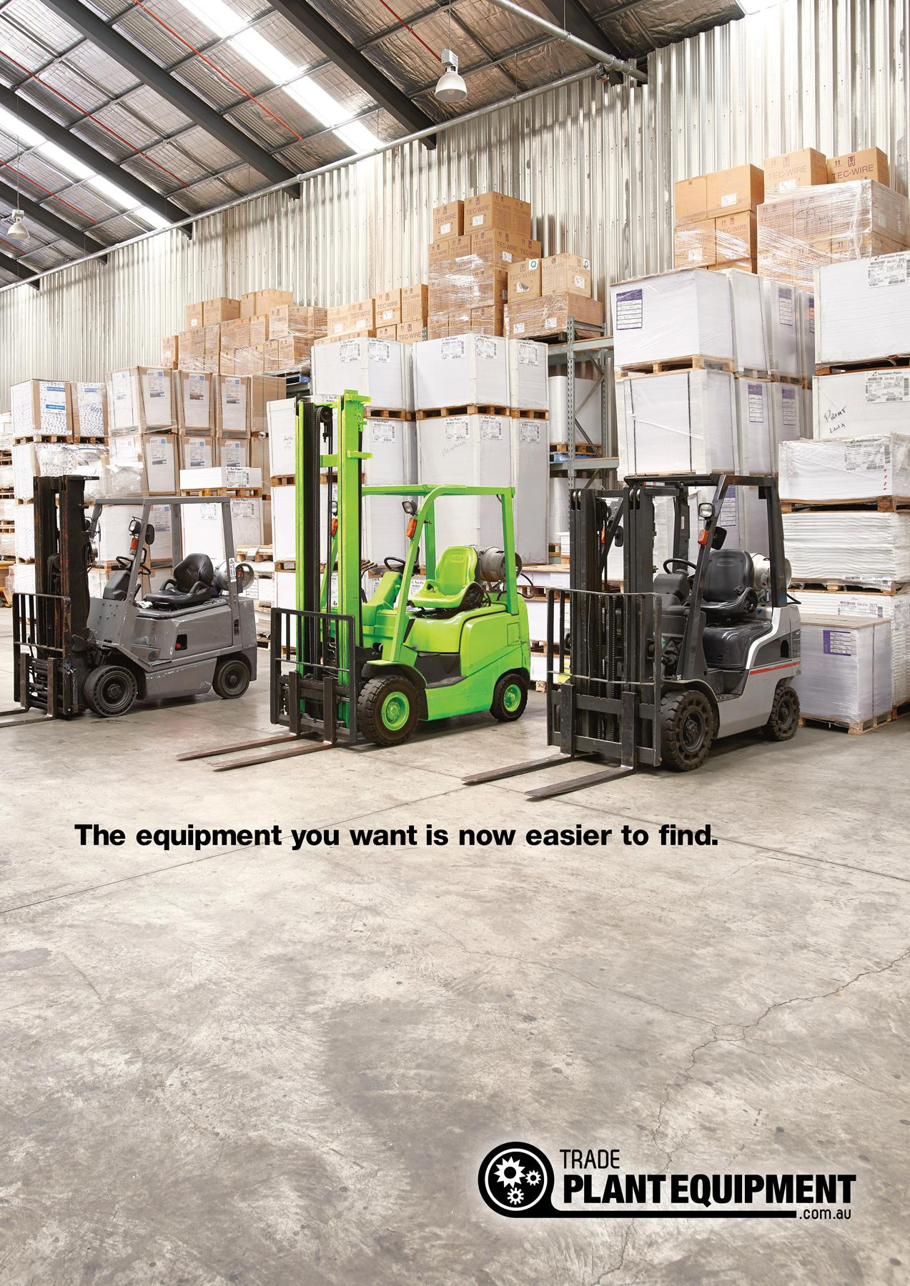 Trader Classifieds Print Ad -  Fluoro Forklift