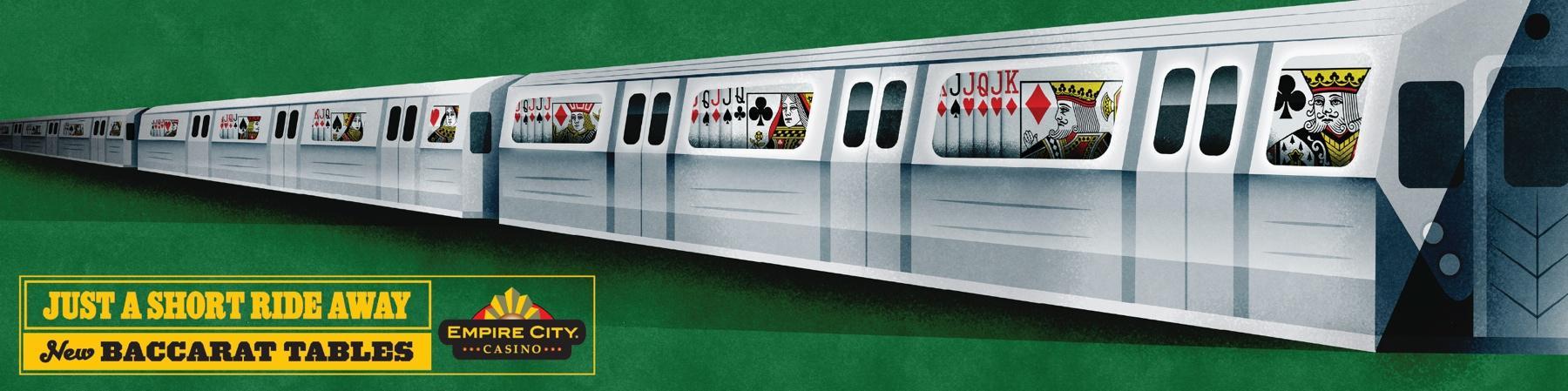 Empire City Casino Outdoor Ad -  Train