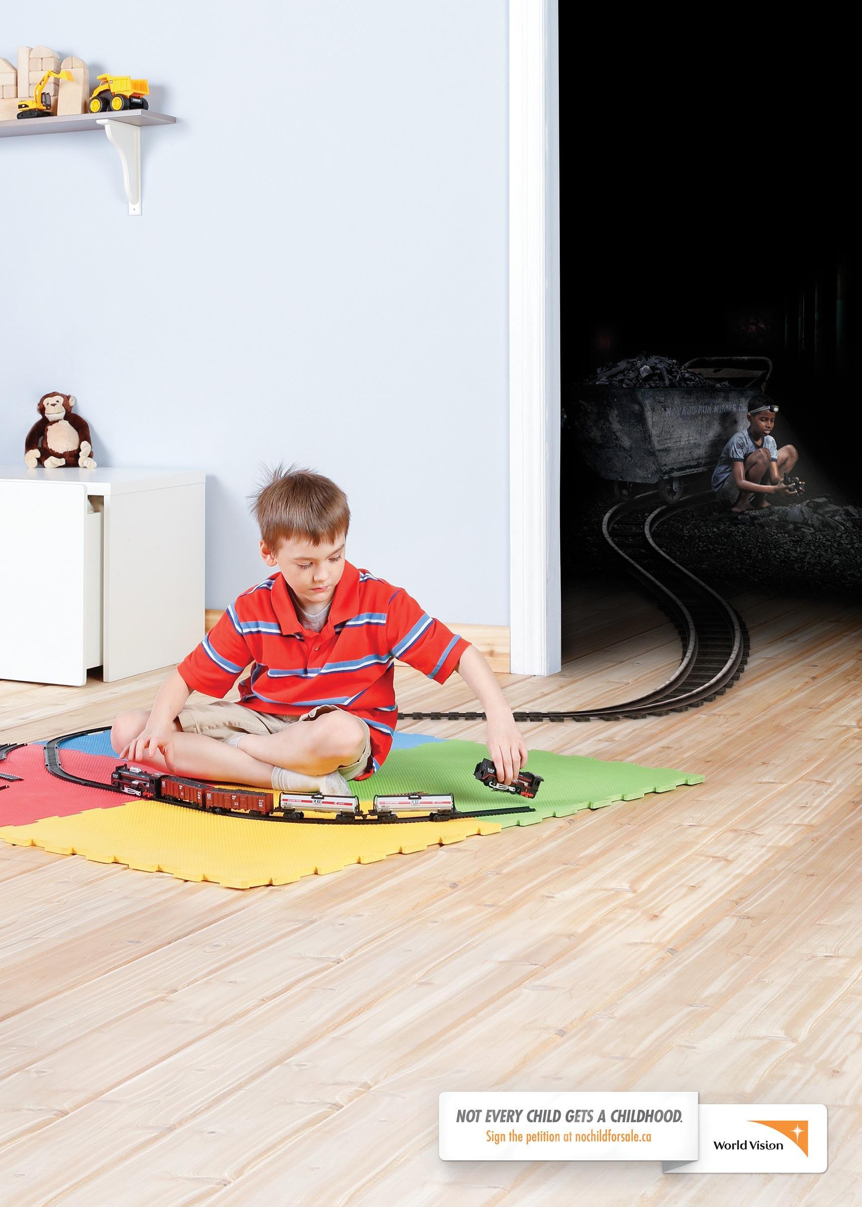 World Vision Print Ad -  Train set