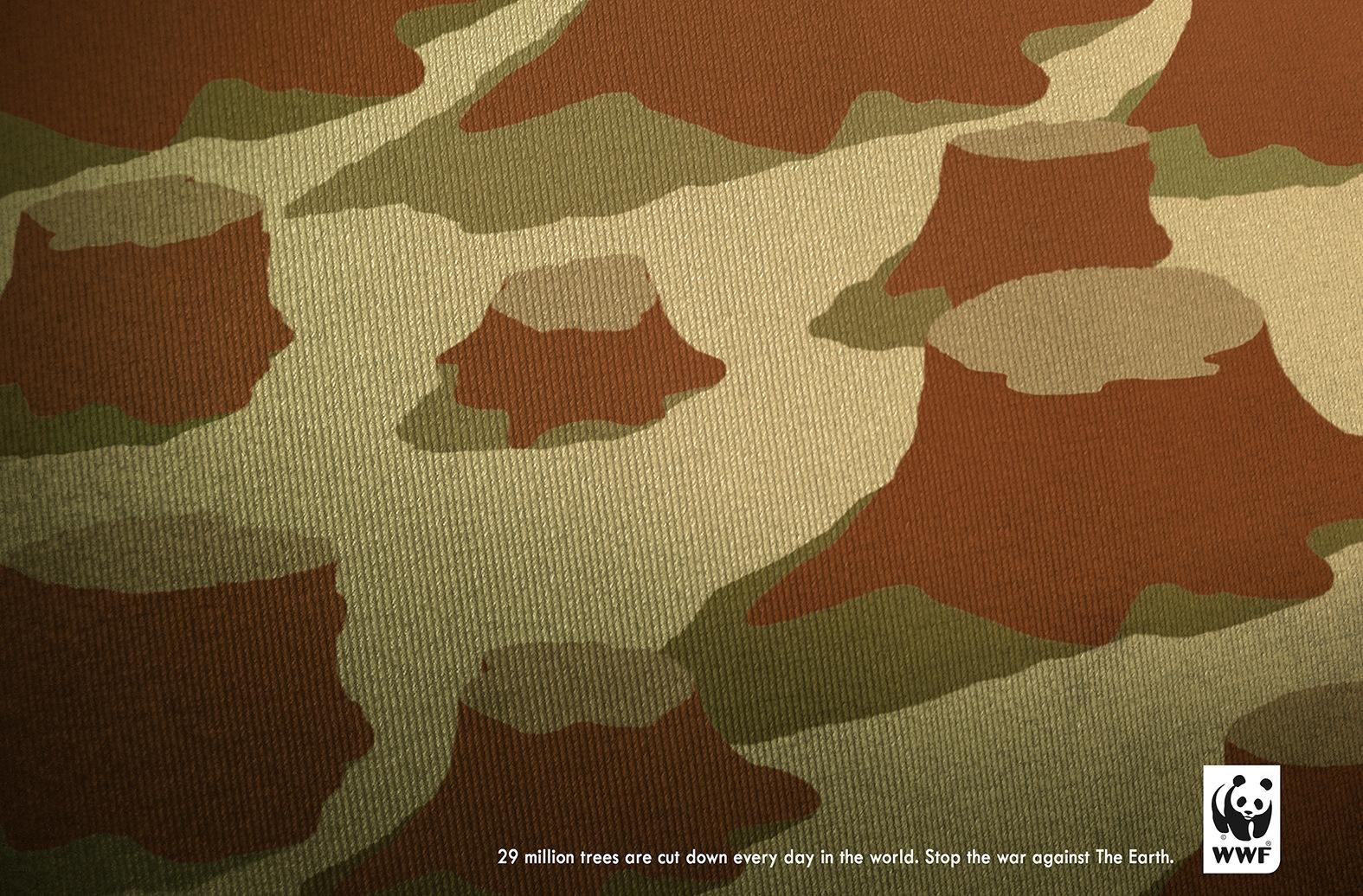 WWF Print Ad -  Tree war