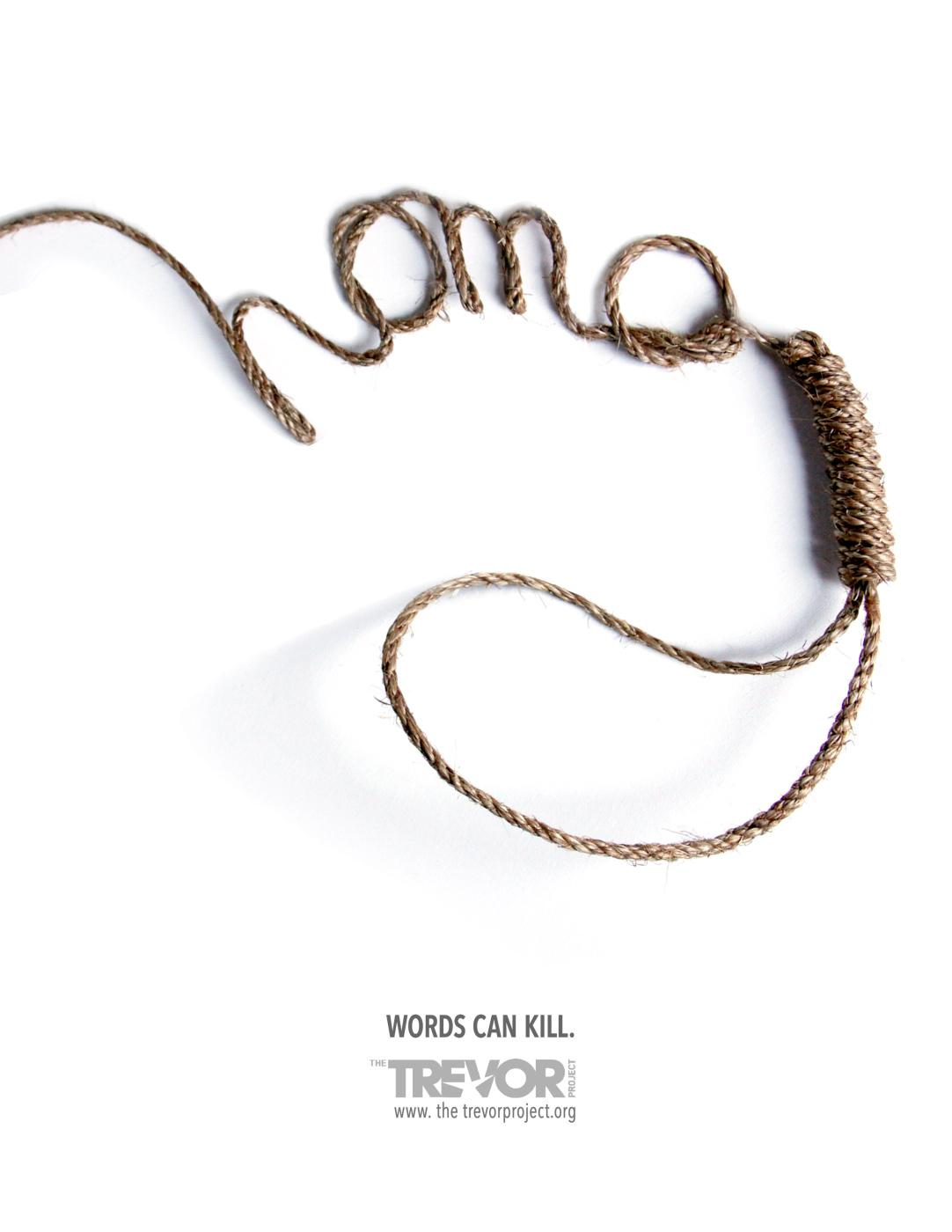 The Trevor Project Print Ad -  Rope