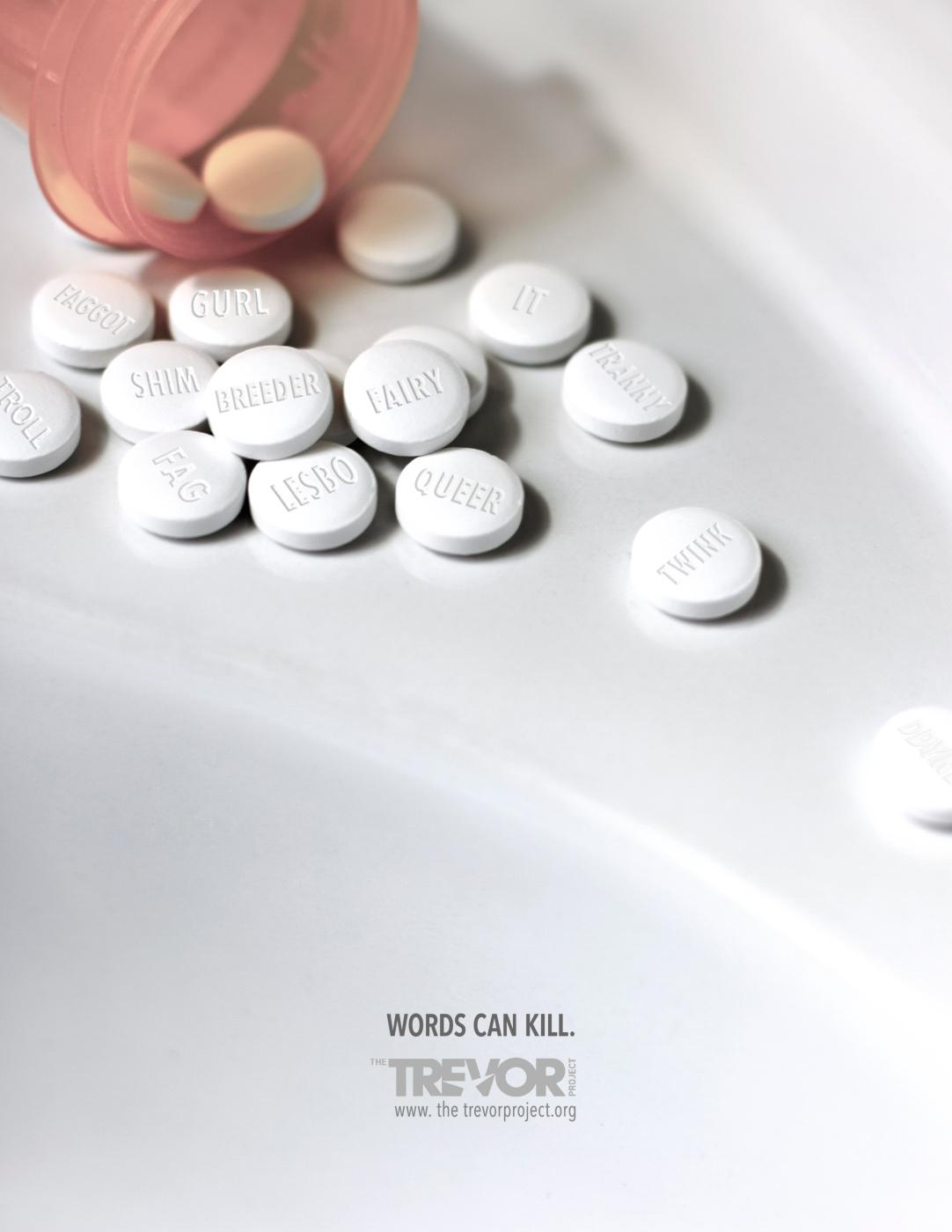 The Trevor Project Print Ad -  Pills