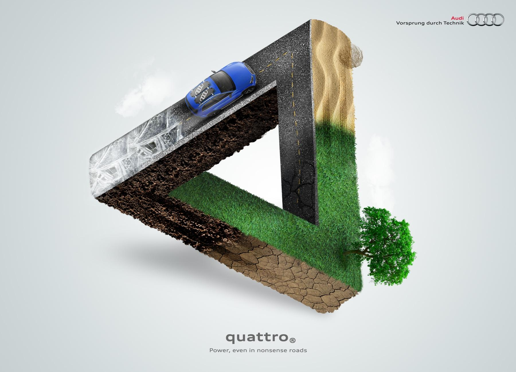 Audi Print Ad -  Triangle