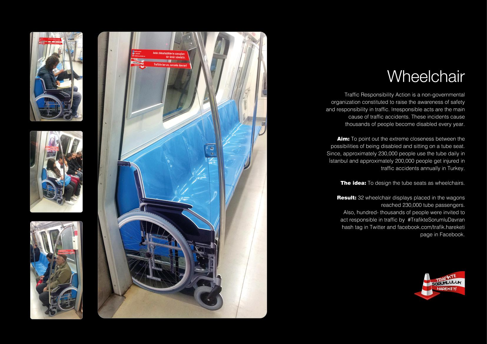 Traffic Responsibility Action Ambient Ad -  Wheelchair