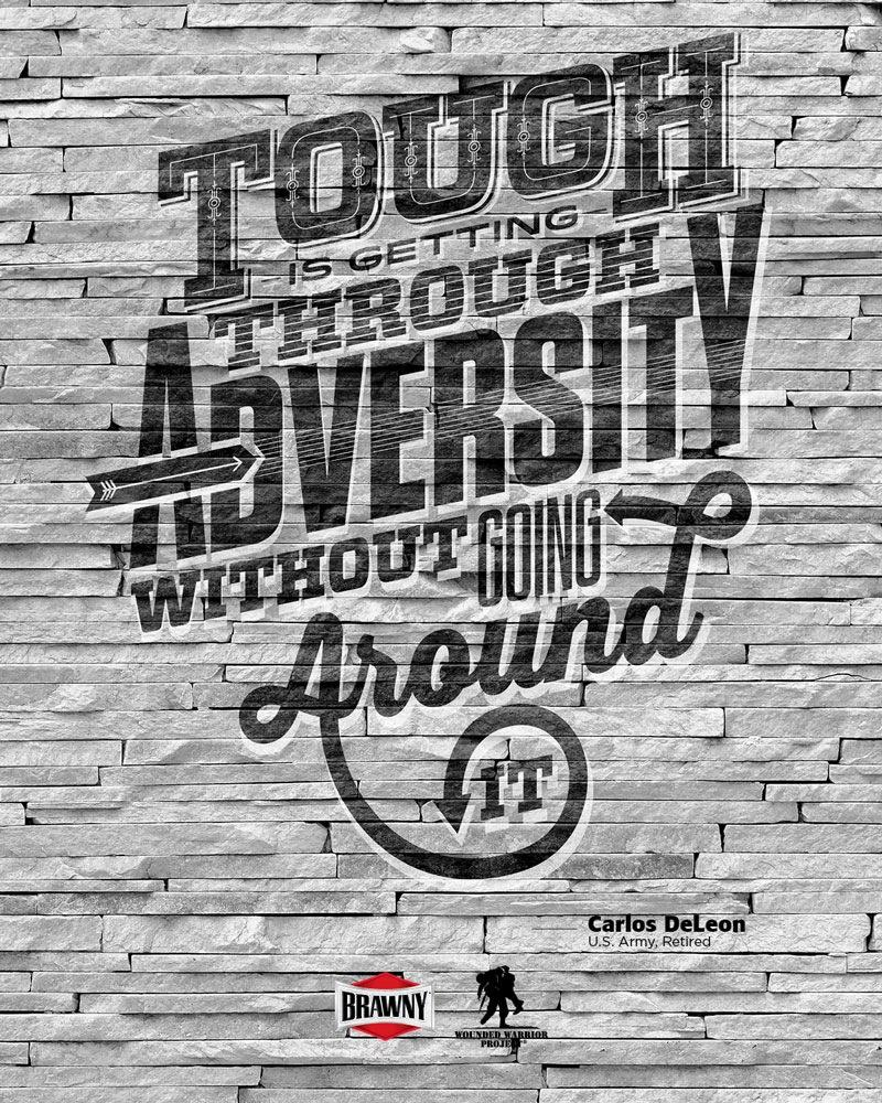 Brawny Print Ad -  Tough to the core, 1