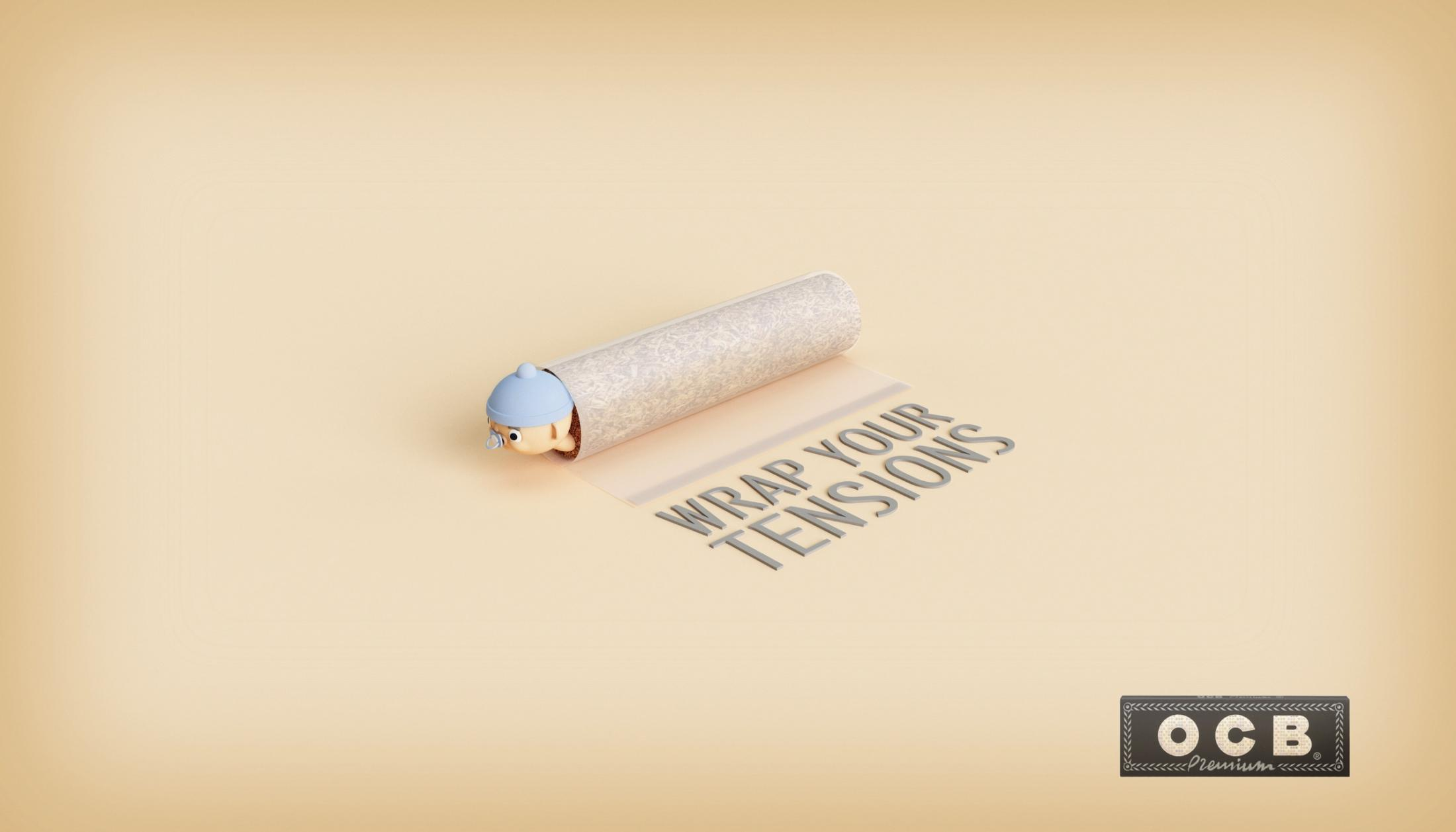 OCB Print Ad - Wrap Your Tensions - Baby