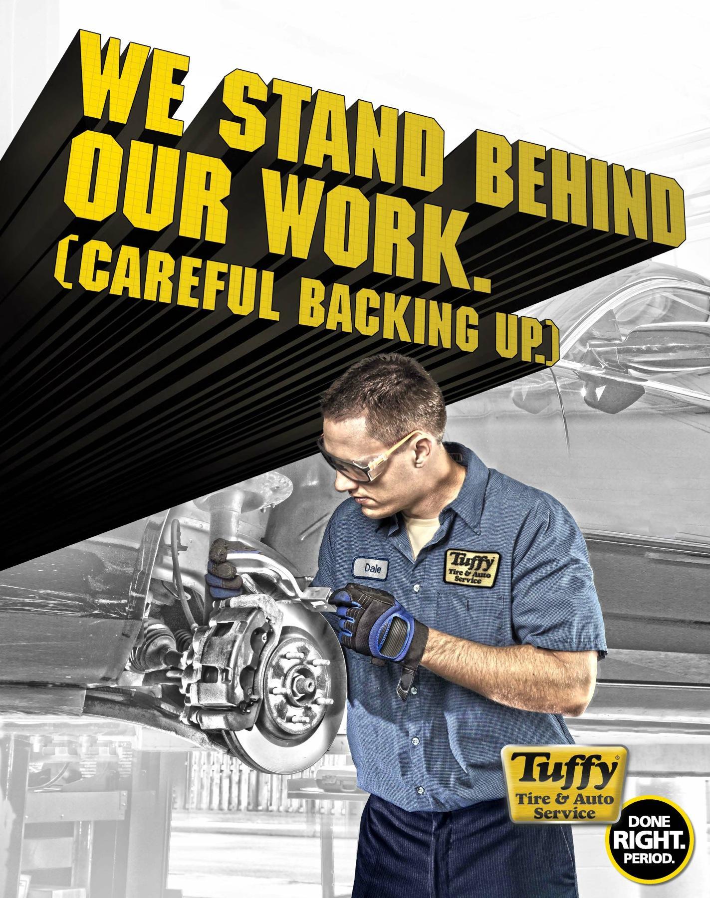Tuffy Tire & Auto Service Print Ad -  Work