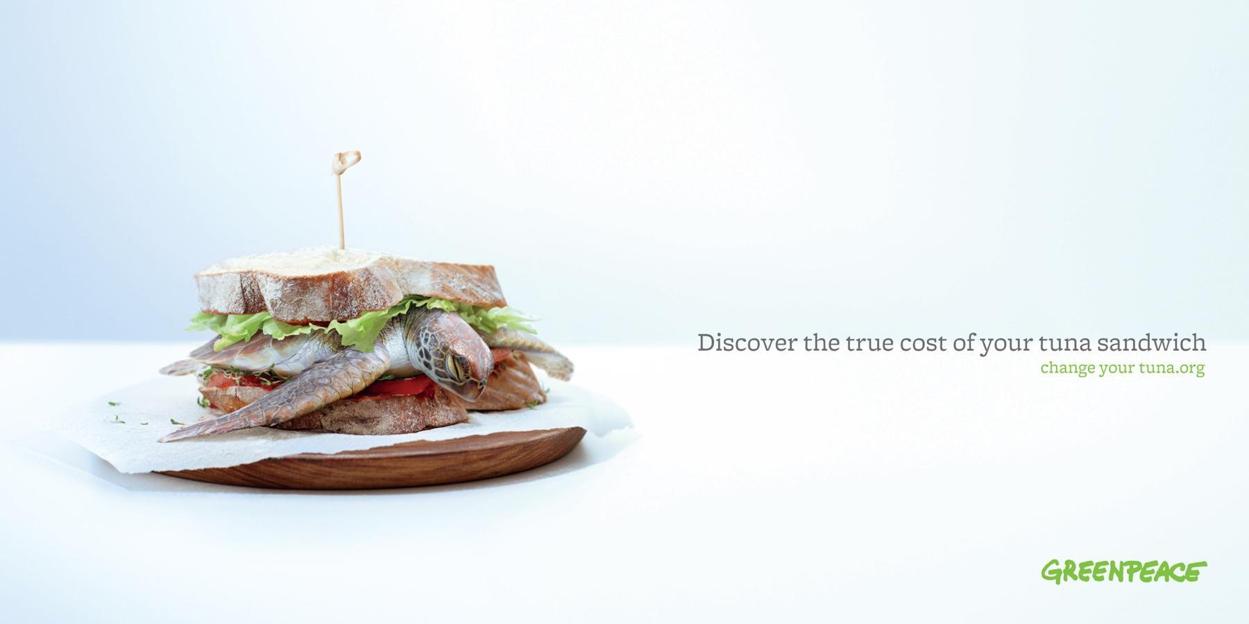 Greenpeace Print Ad -  Change your tuna