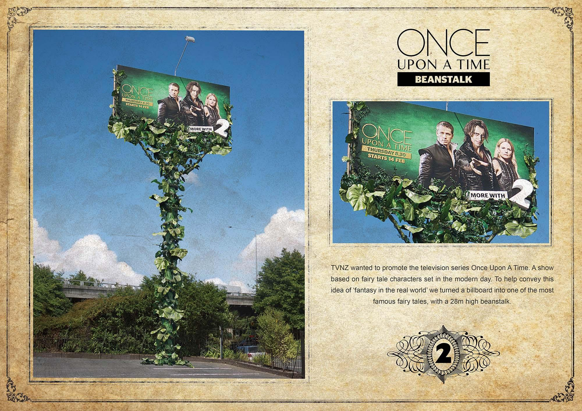 TV2 Outdoor Ad -  Once Upon a Time Beanstalk