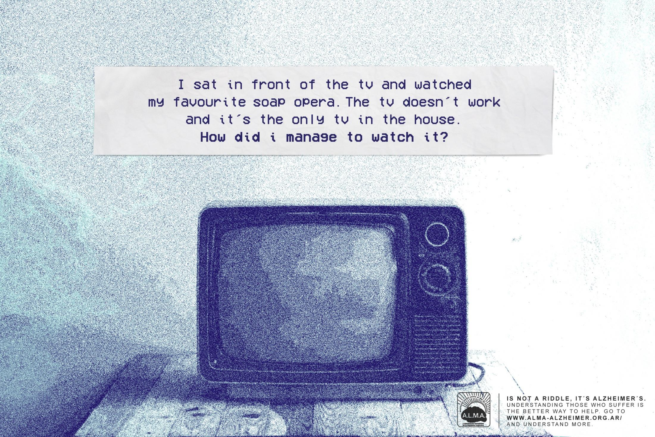 A.L.M.A. Print Ad - The Impossible Riddle - TV
