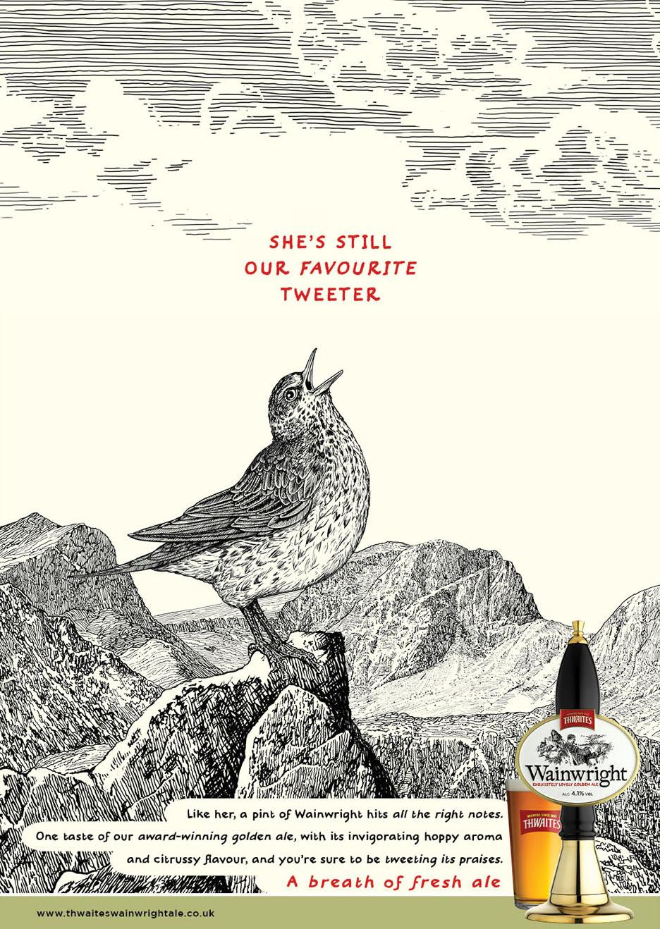 Wainwright Print Ad -  Tweeter