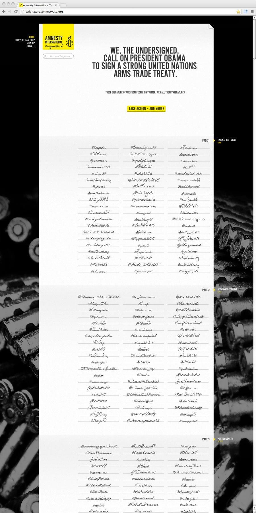 Amnesty International Digital Ad -  Twignature