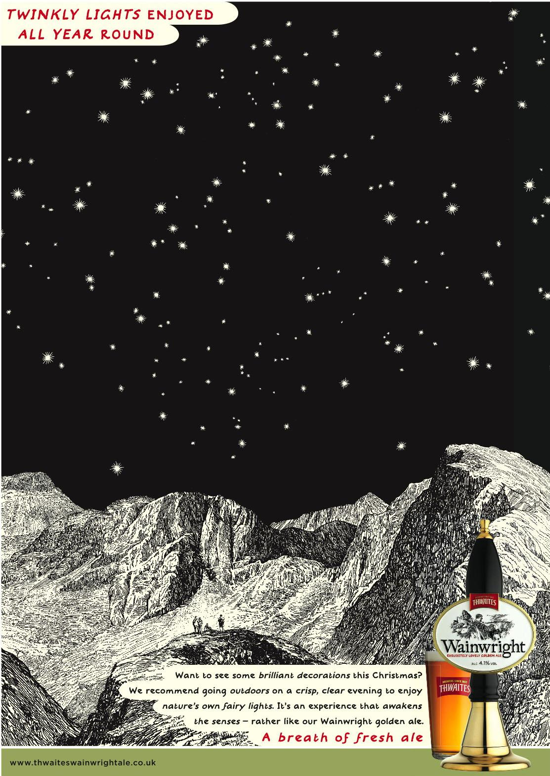 Wainwright Print Ad -  Twinkly lights
