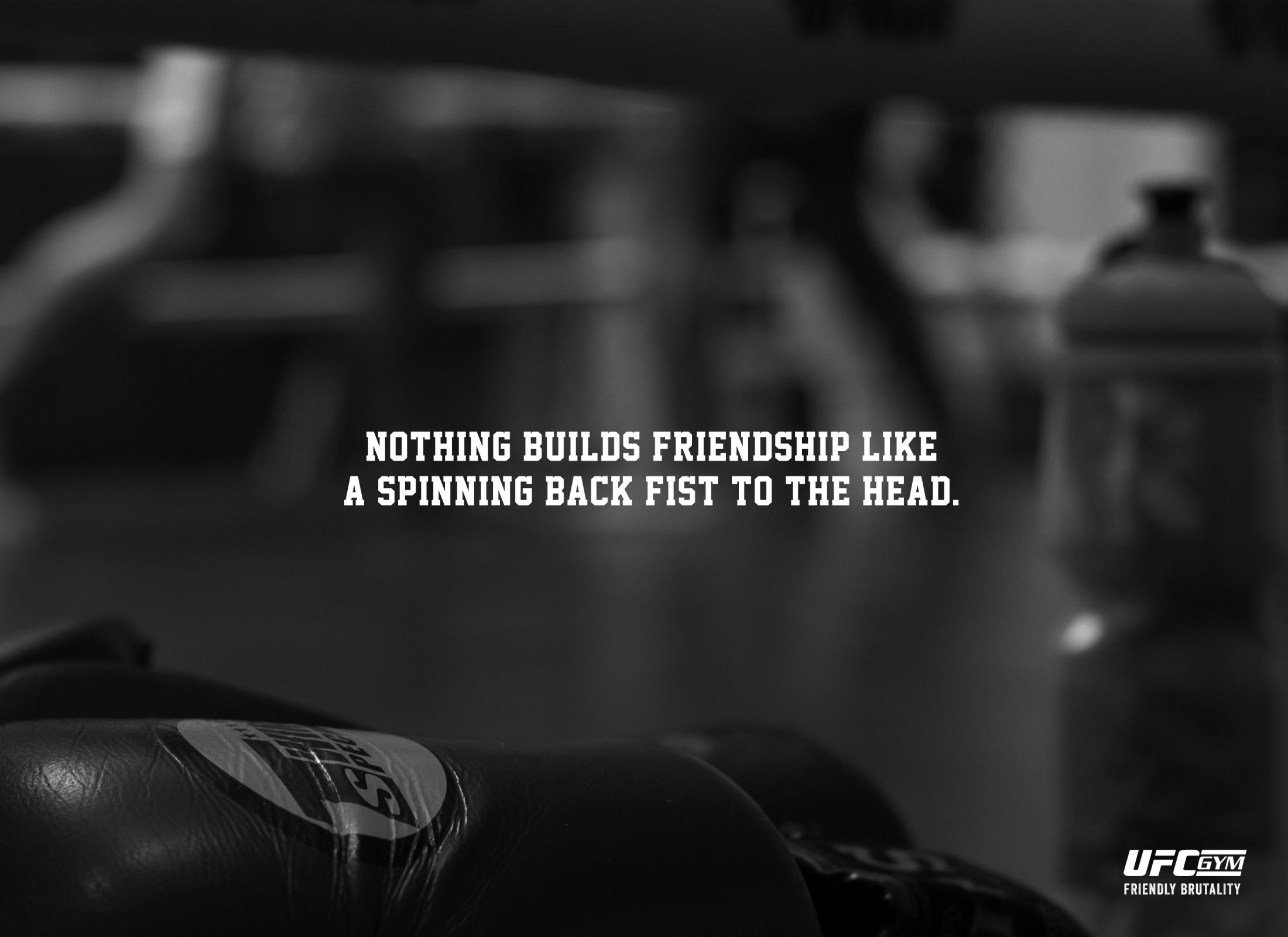 UFC Gym Print Ad - Friendly Brutality, 2