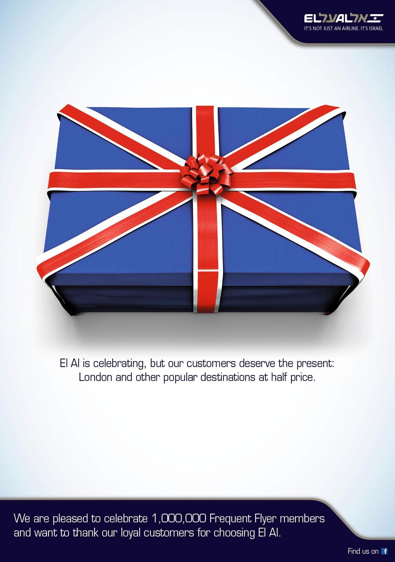 EL AL Outdoor Ad -  The London Present