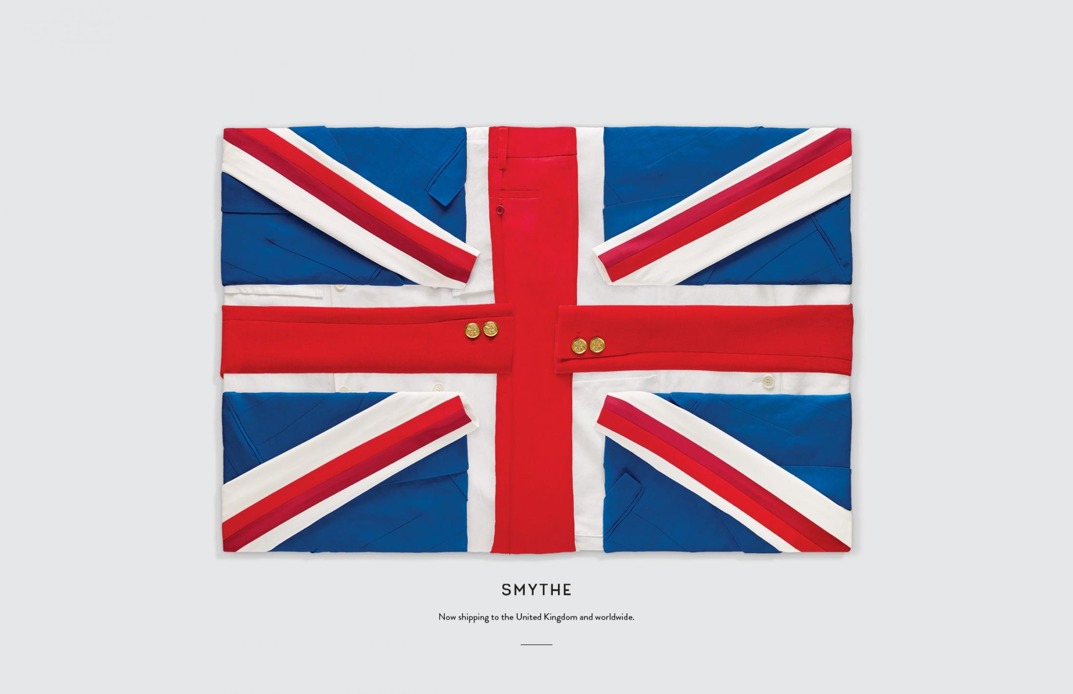Smythe Print Ad - Flags, UK