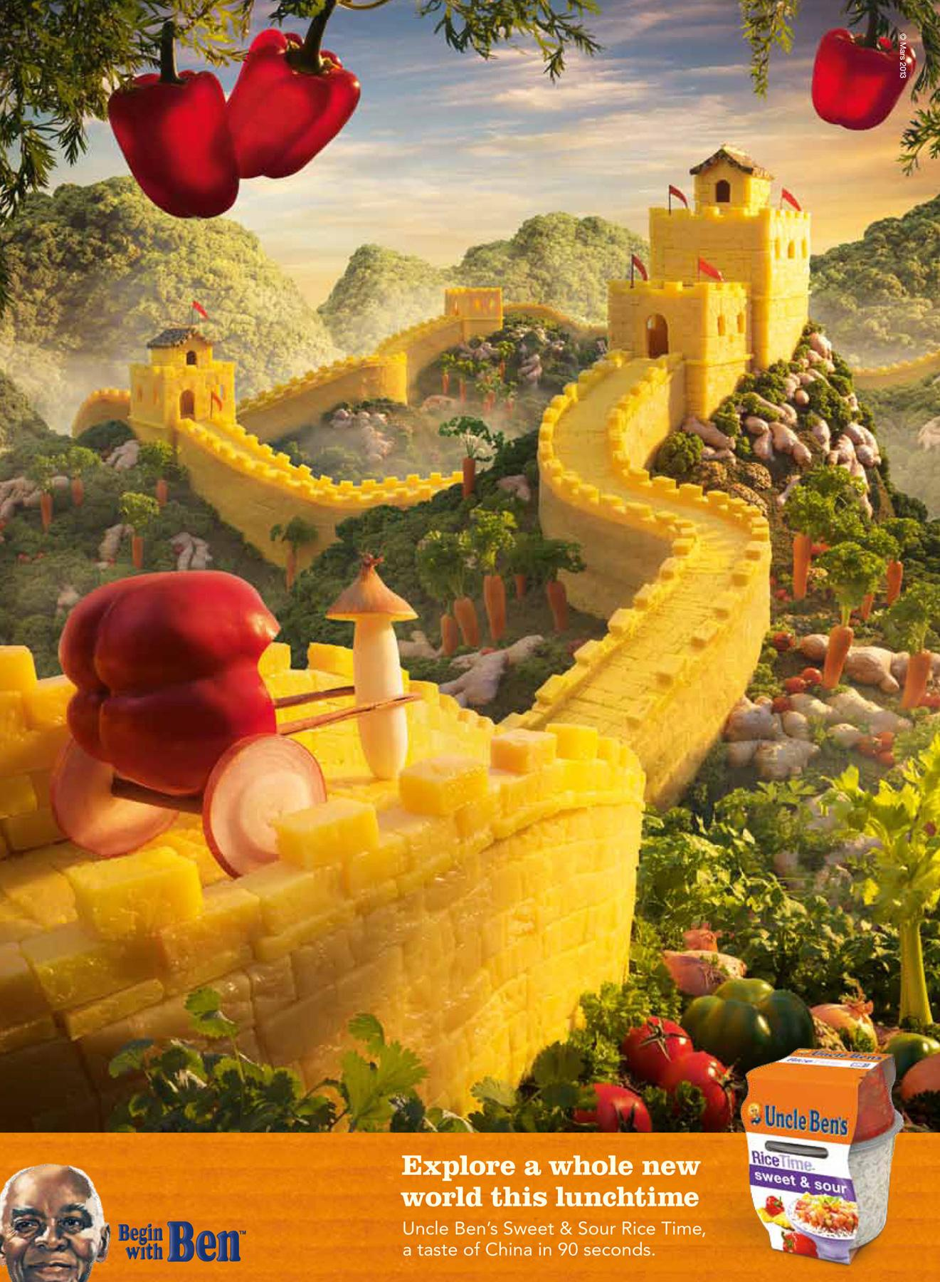 Uncle Ben's Print Ad -  Great Wall of China