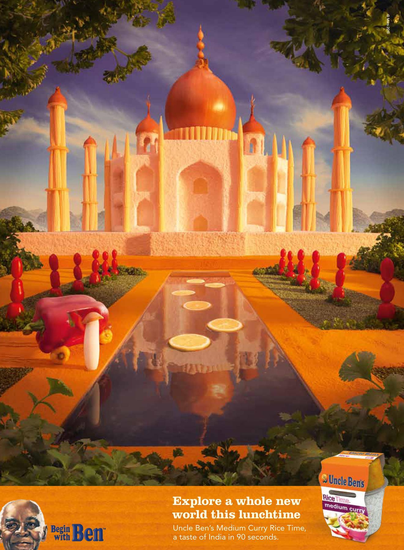 Uncle Ben's Print Ad -  Taj Mahal