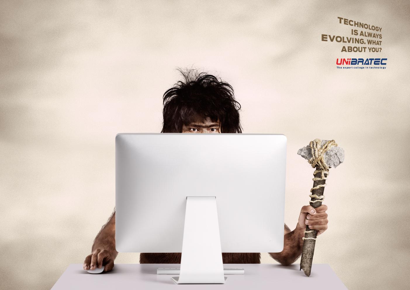 Unibratec Print Ad -  Caveman