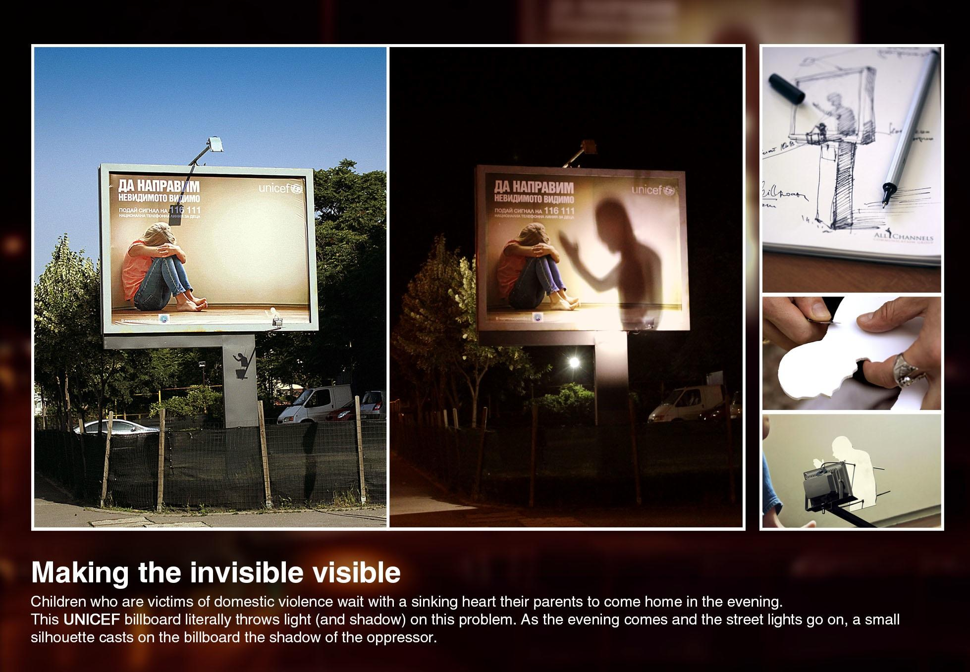 Unicef Outdoor Ad -  Making the invisible visible