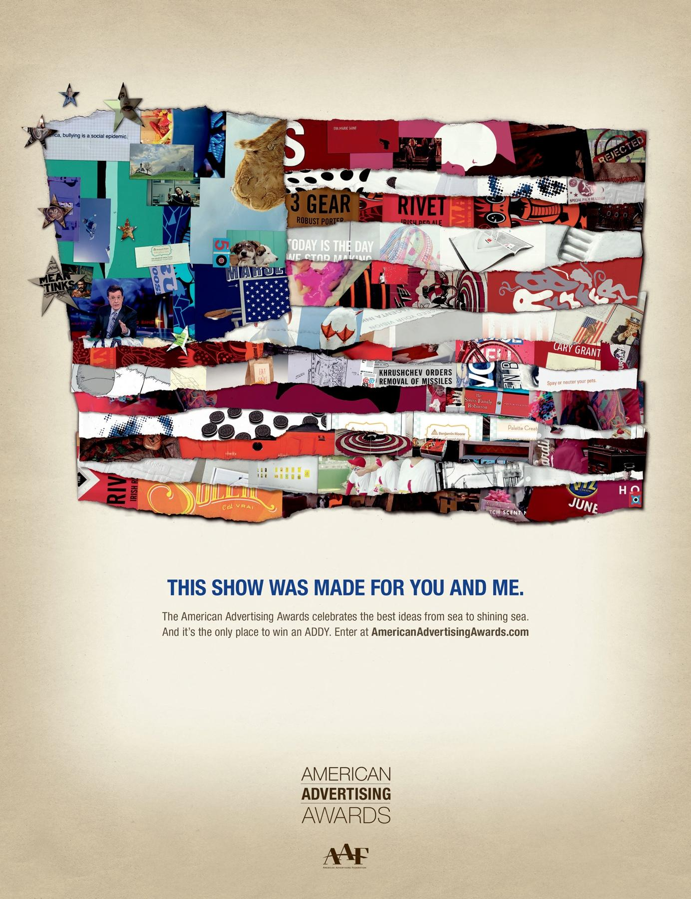 American Advertising Awards Outdoor Ad -  Flag