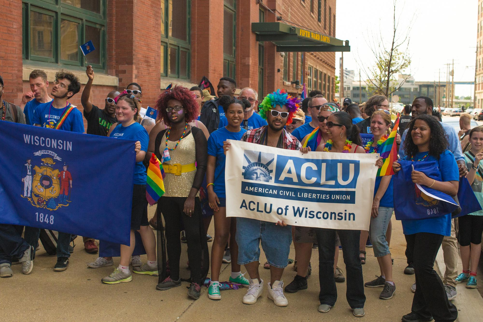ACLU Ambient Ad - Wisconsin Flag