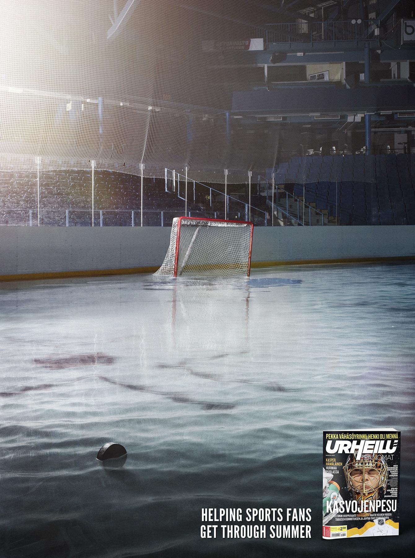 Urheilusanomat Print Ad -  Ice Hockey dry season