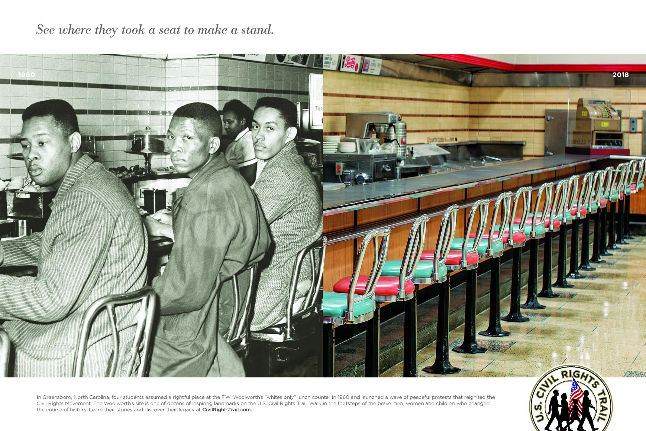 U.S. Civil Rights Trail Print Ad - Greensboro Four