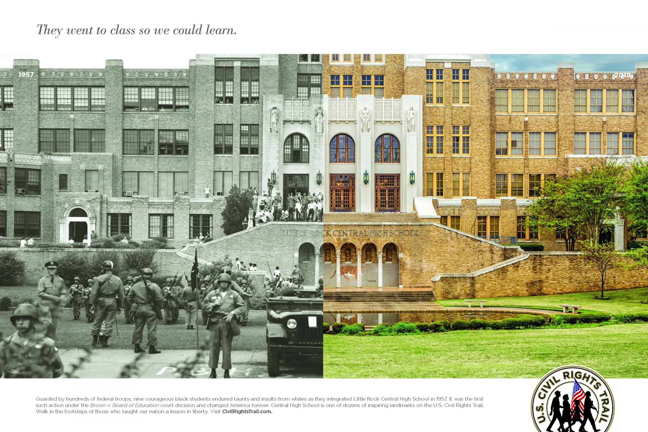 U.S. Civil Rights Trail Print Ad - Little Rock