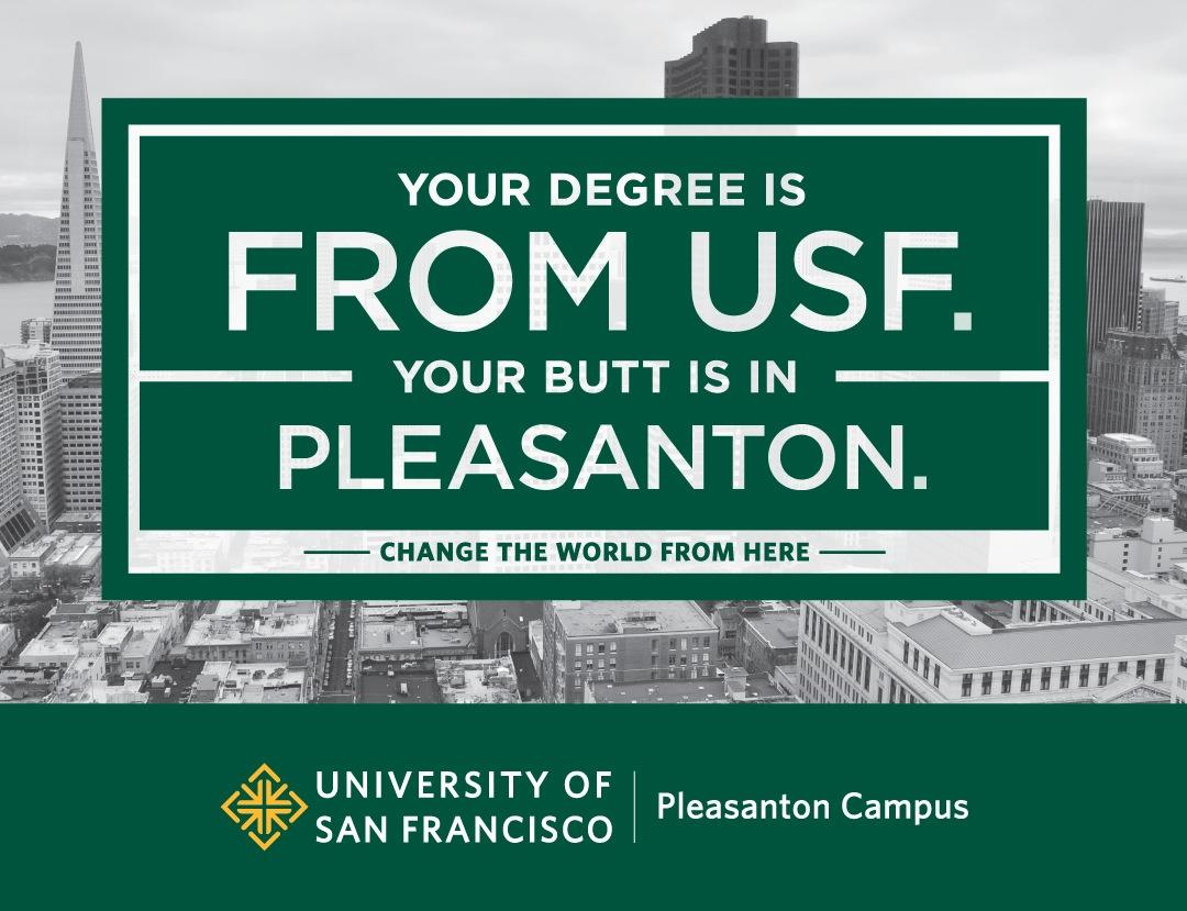 University of San Francisco Outdoor Ad -  Butt