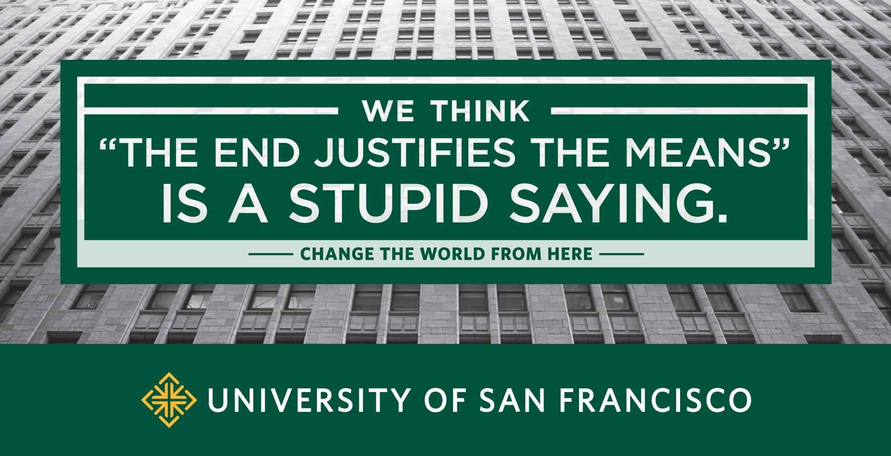 University of San Francisco Print Ad -  Stupid