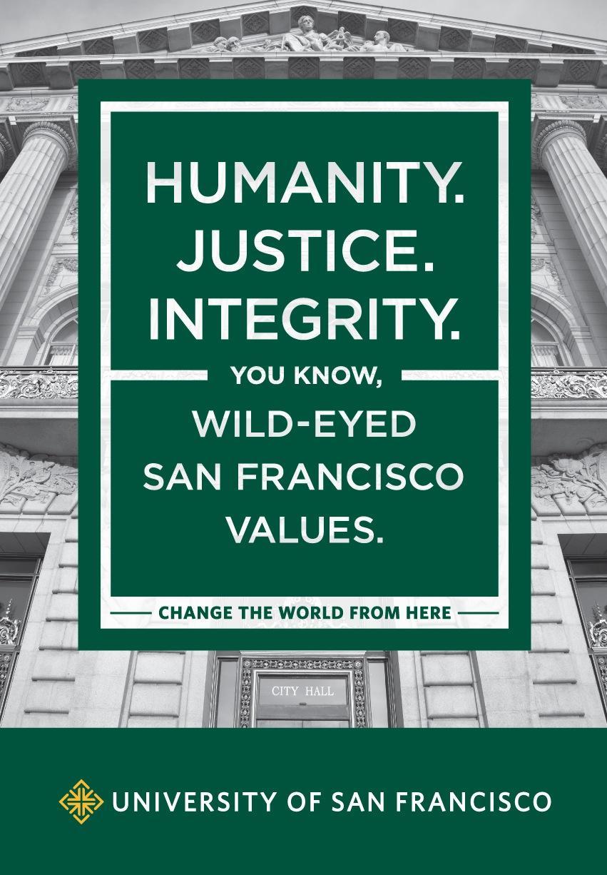 University of San Francisco Print Ad -  Values