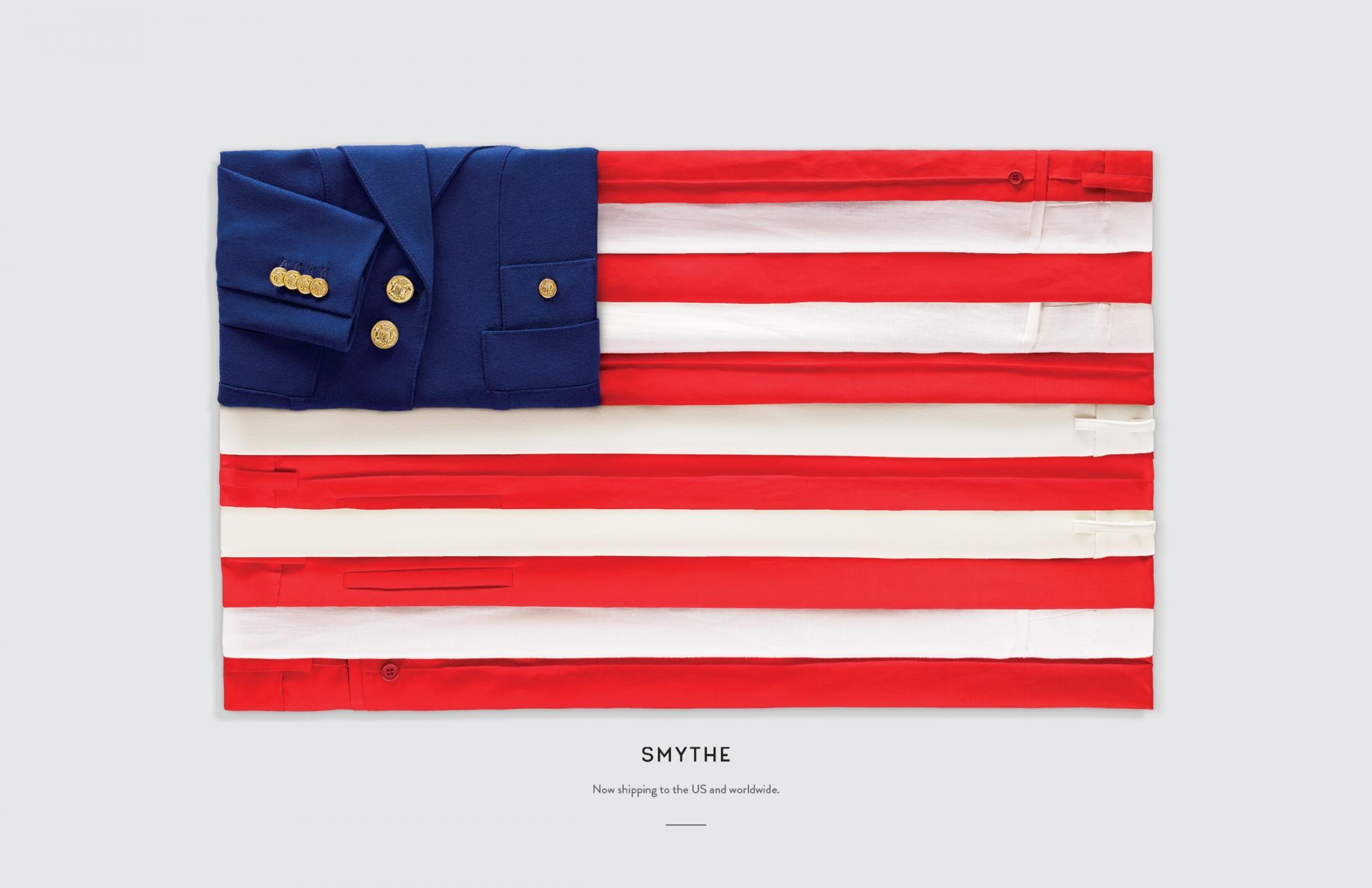 Smythe Print Ad - Flags, US