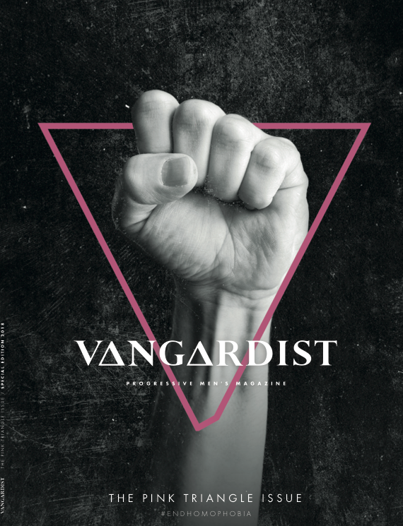Vangardist Integrated Ad - The Pink Triangle Issue