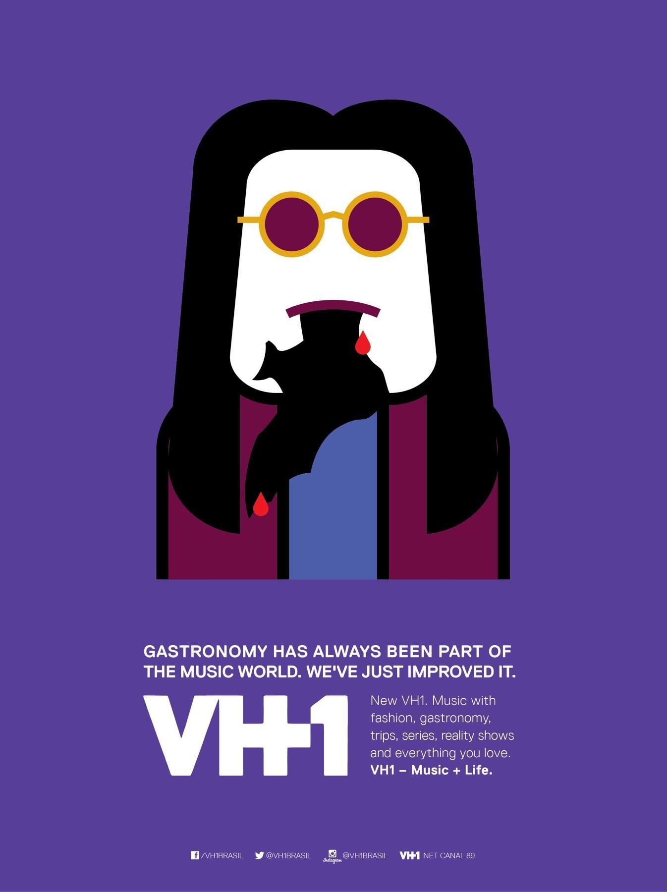 VH1 Print Ad -  Gastronomy