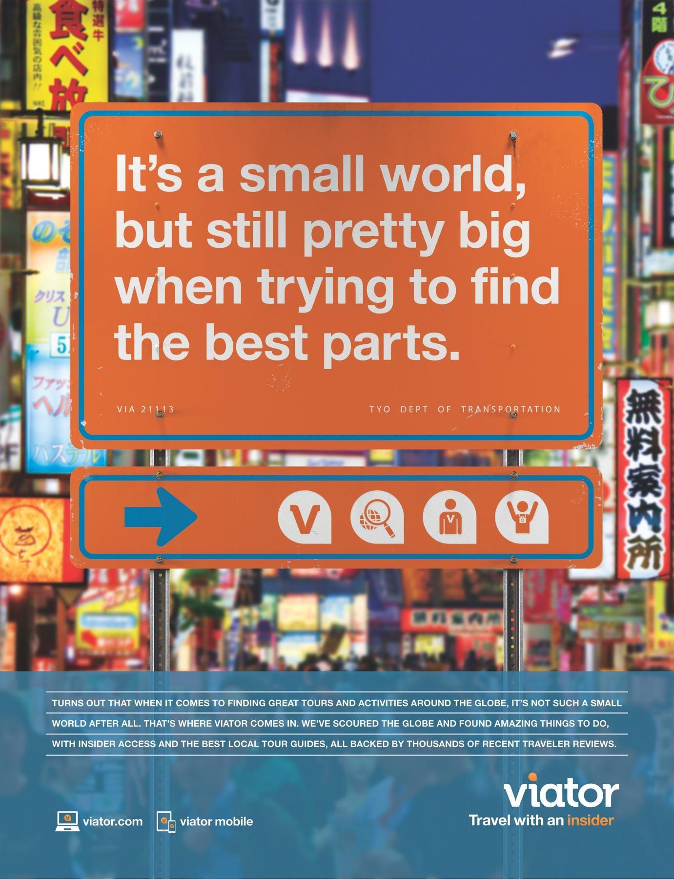 Viator Print Ad -  Best parts