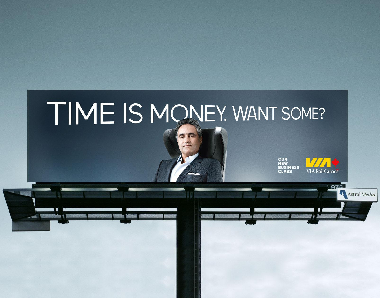 VIA Rail Outdoor Ad -  Time is money.