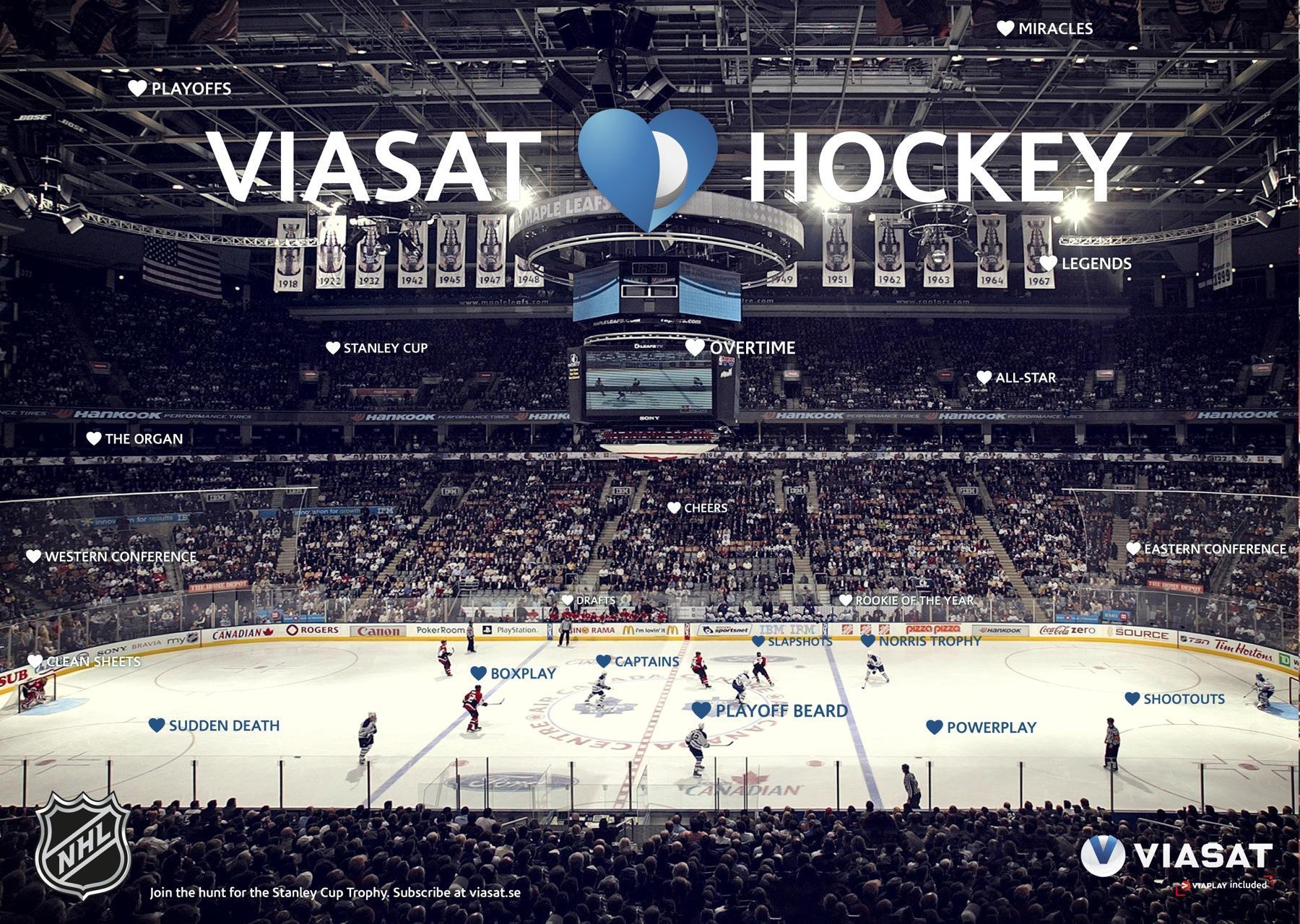 Viasat Print Ad -  Viasat Loves Hockey