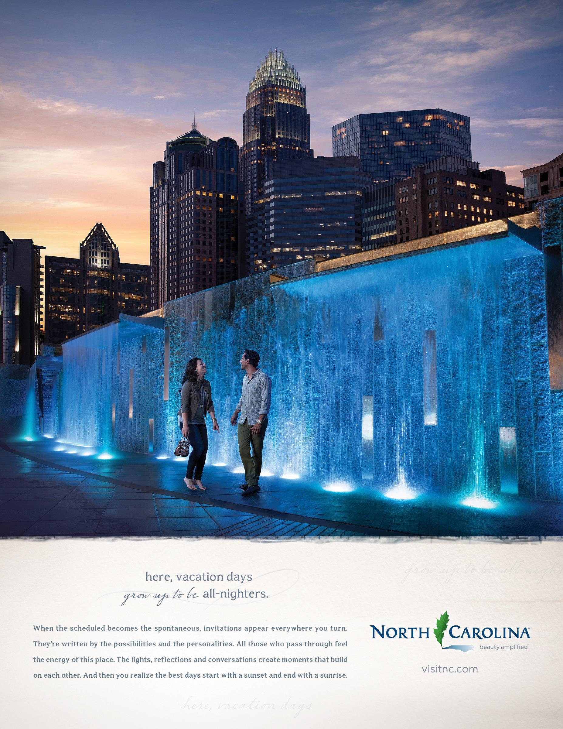 Visit North Carolina Print Ad -  Beauty Amplified, 1