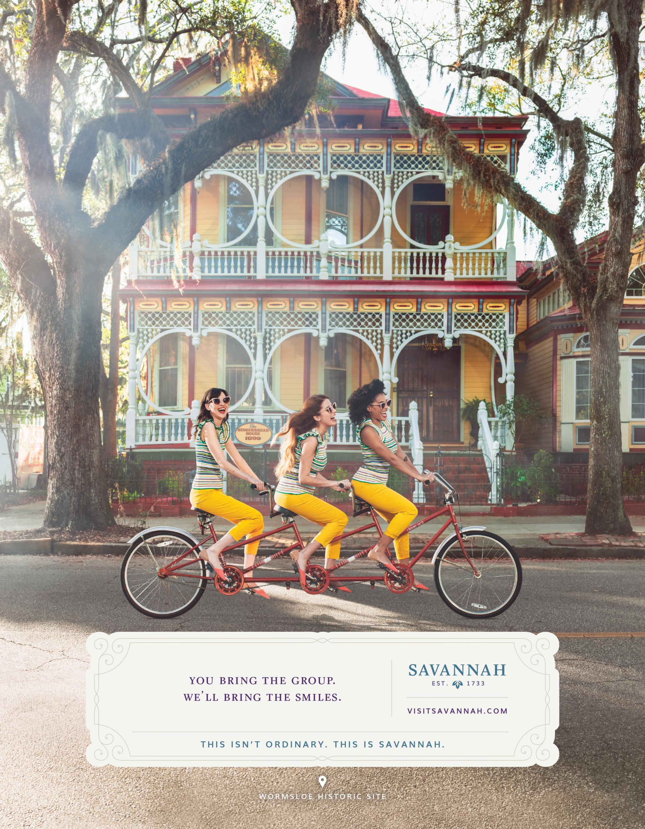 Visit Savannah Print Ad - Gingerbread House