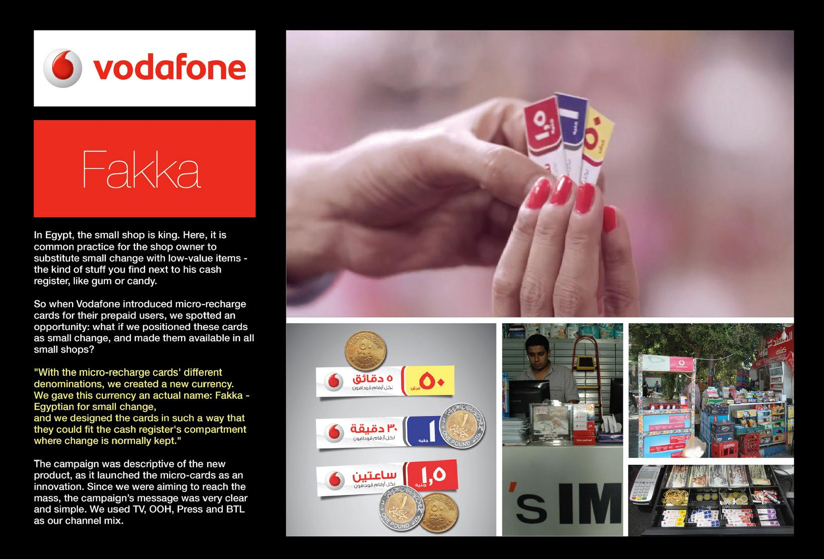 Vodafone Direct Ad -  Micro Recharge Cards