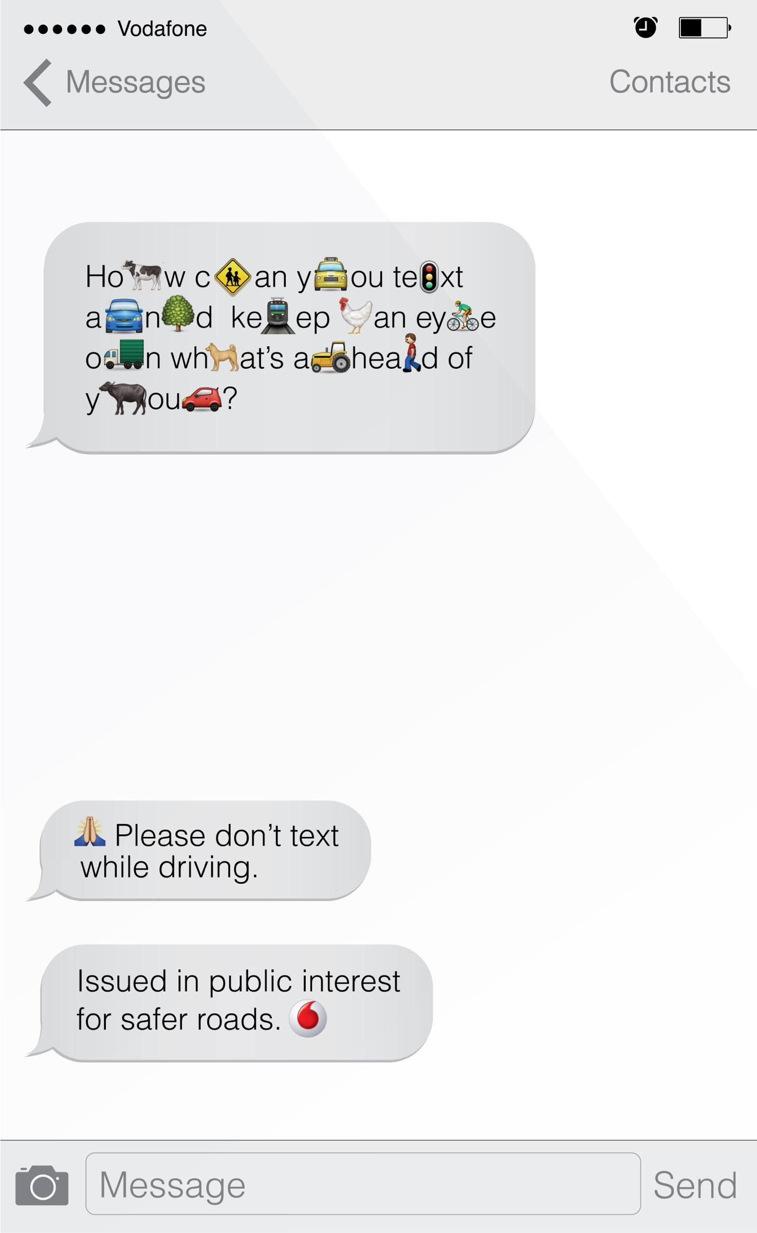 Vodafone Print Ad -  Message, 1