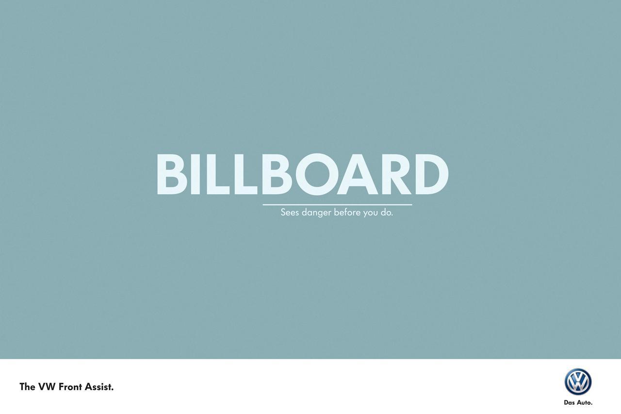 Volkswagen Print Ad -  Billboard