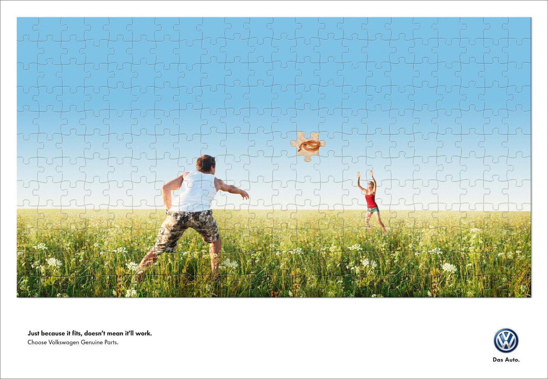 Volkswagen Print Ad -  Frisbee