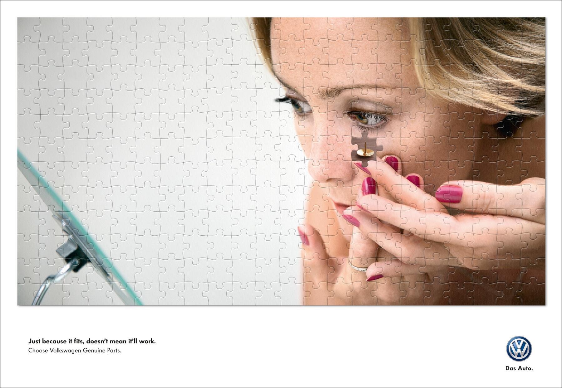 Volkswagen Print Ad -  Contact Lens