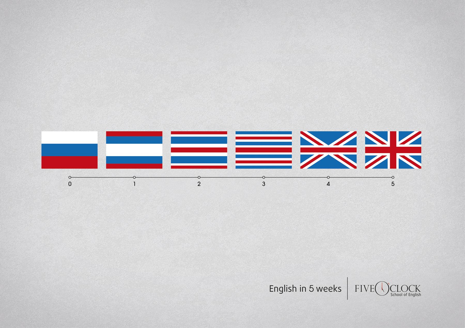 Five O'clock Print Ad -  Flags