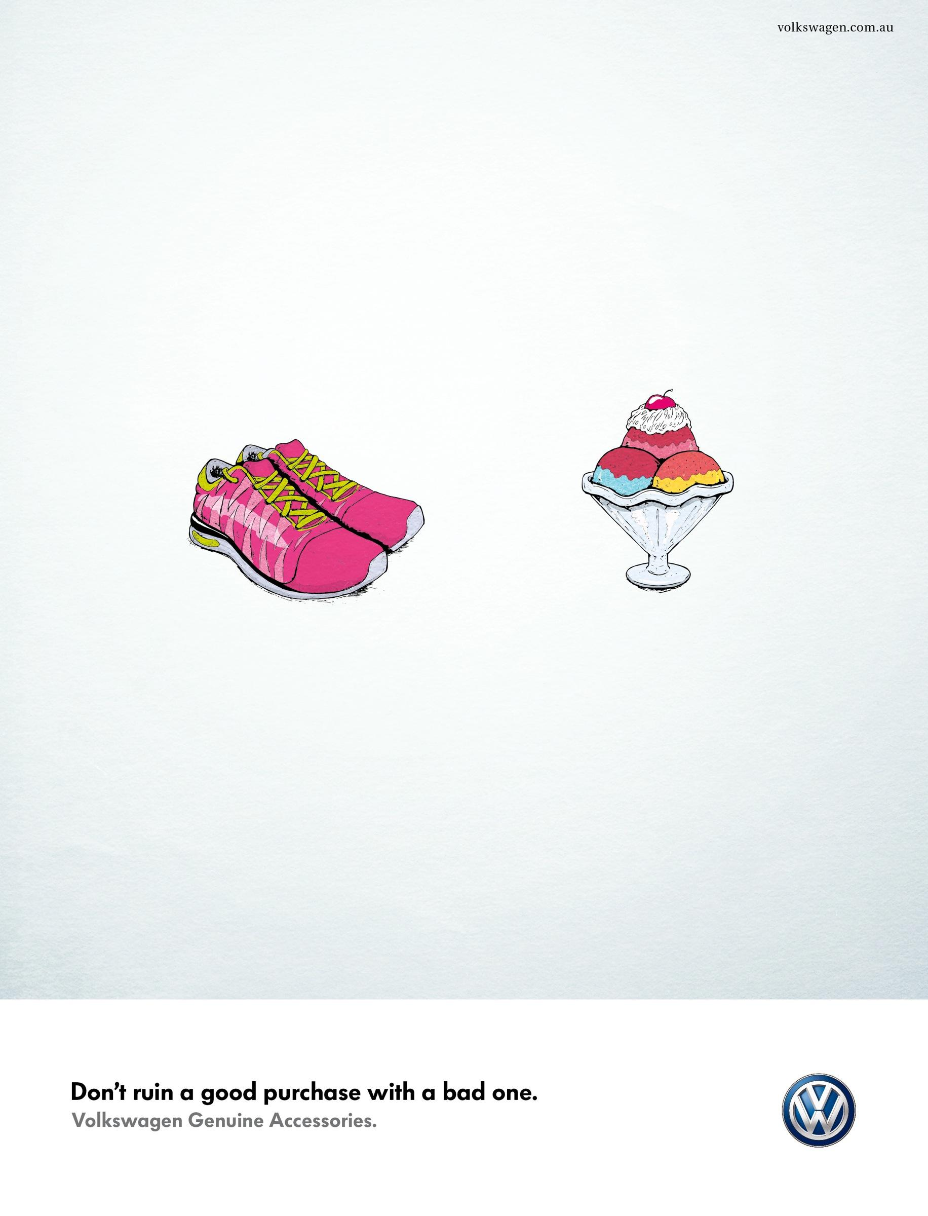 Volkswagen Print Ad -  Running shoes